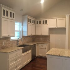 White cabinets Burnet Texas
