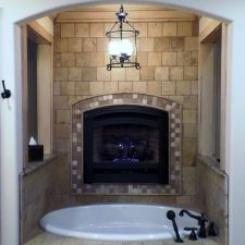 Master bath tub, Burnet, TX